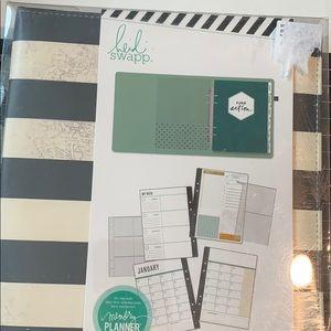 Heidi Swapp memory planner, stripe, undated, new